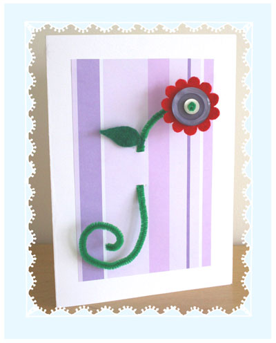 How-To: Make a Felt And Button Flower Mother's Day Card