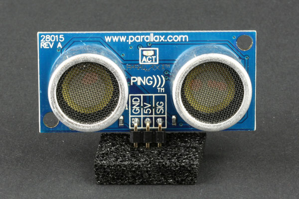 In the Maker Shed: PING))) Ultrasonic range finder