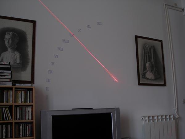 Laser sundial