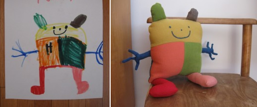 Stuffed Toy From a Child's Drawing