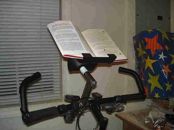 How-To: Stationary bike book holder
