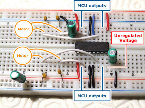 Control your motors with an L293D and Arduino
