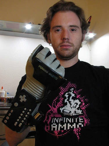 Updated Power Glove with Bluetooth and Arduino