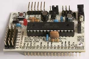 In the Maker Shed: Bare Bones Arduino Board Kit on sale now!