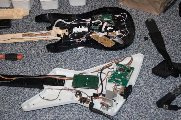 Guitar game controller mods