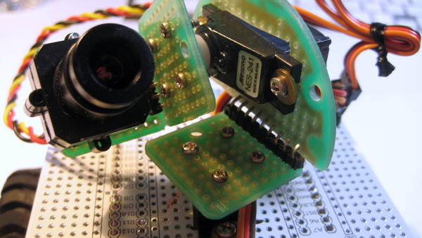 Quick n' dirty pan-tilt camera mount