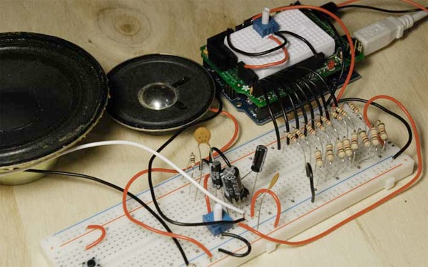 Arduino synth/sequencer with Processing + R2R DAC