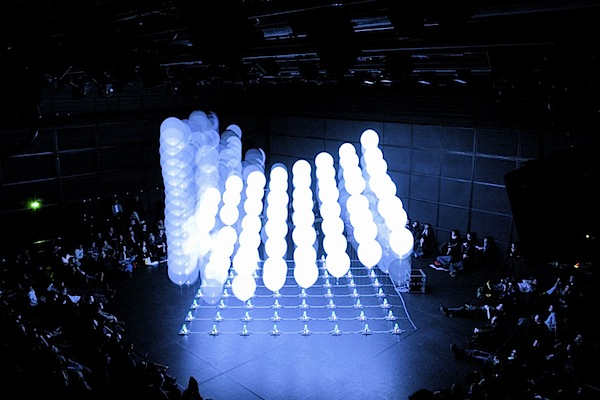 Performance with 64 helium balloons