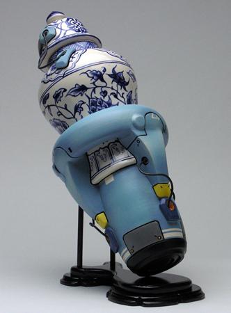 Old school ceramics, new school robot art