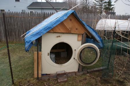 Clothes dryer chicken coop