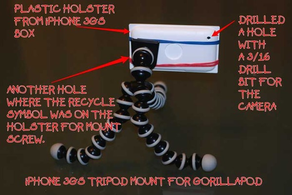 How to make a cheap tripod mount for the iPhone 3GS