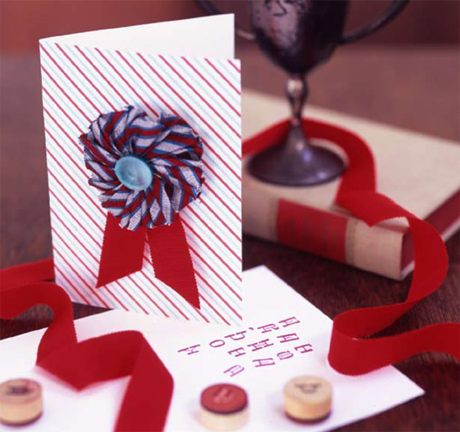 How-To: Blue Ribbon Badge Card For Father's Day