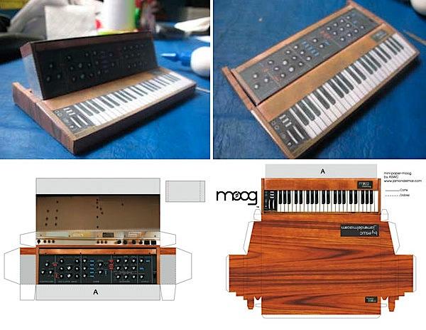 Papercraft Mini Moog won't break the bank