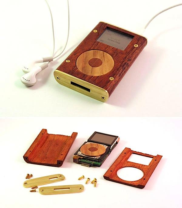 Wood & brass iPod Mini