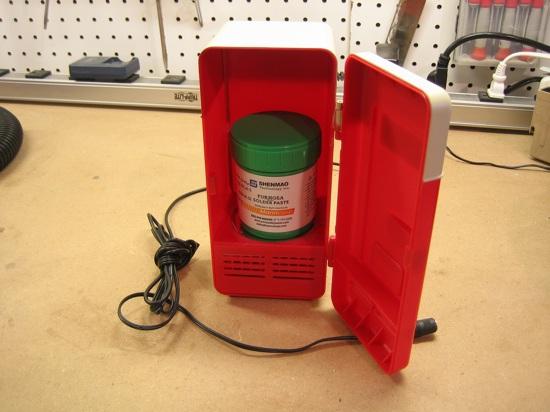 solder paste fridge!