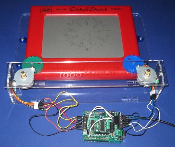 Toys for Bots – Arduino controlled etch-a-sketch