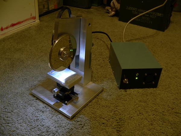 Diamond-blade dicing saw from hard drive