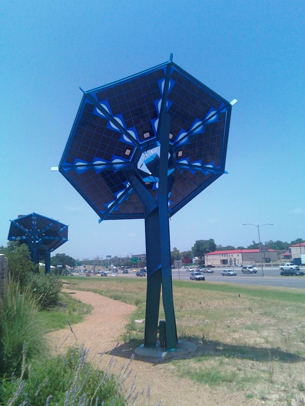 Solar sunflowers at Austin's Mueller development