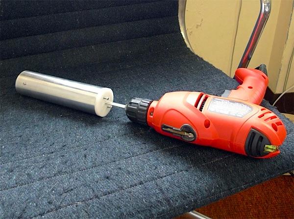 Power drill coffee grinder