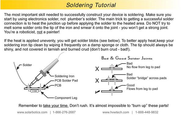 Solarbotics' soldering summary