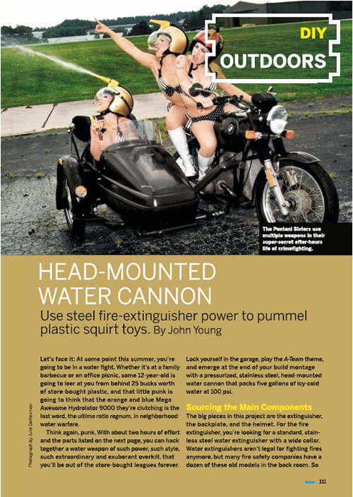 Weekend Project: Head Mounted Water Cannon (PDF)