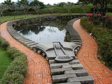 Giant zipper lotus pond in Taiwan