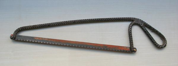 Handmade hacksaw frame