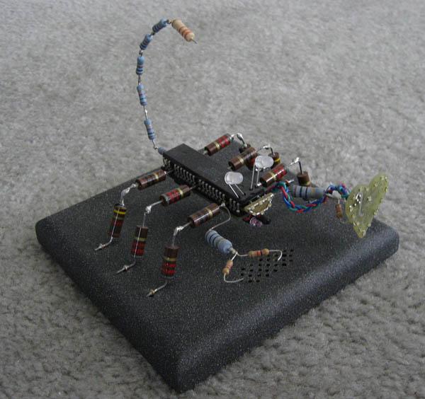 MrScorp, technoart sculpture that animates