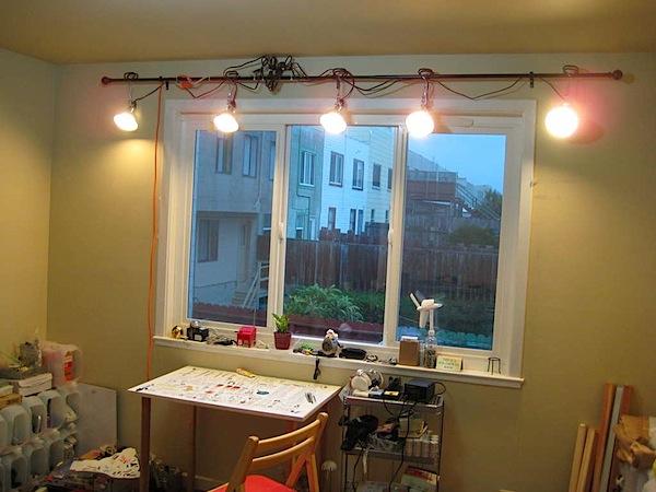 DIY track lighting