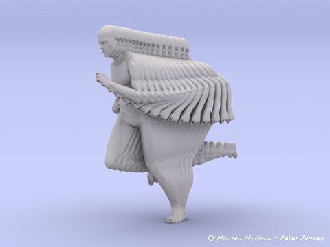 Human motions sculptures