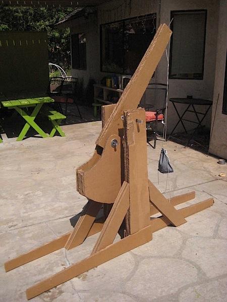 Contest produces cardboard furniture, trebuchet