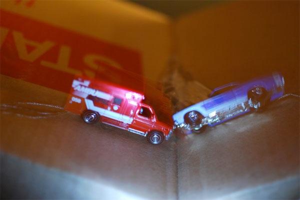 Matchbox collision photography