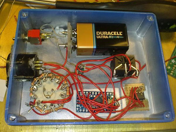 Arduino based DMX controller: Kohtauskone