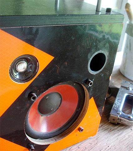 Big orange boombox from surplus & salvage