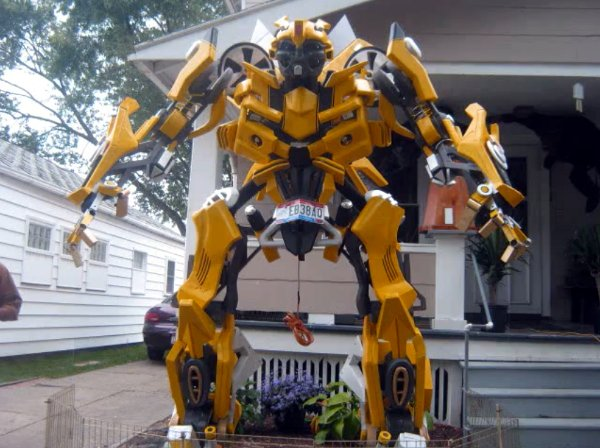 Autobots invade Cleveland yard for Halloween