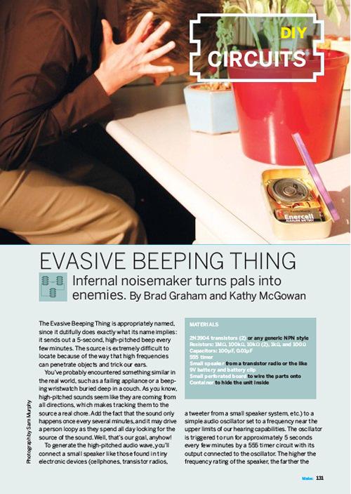 Weekend Project: Evasive Beeping Thing (PDF)
