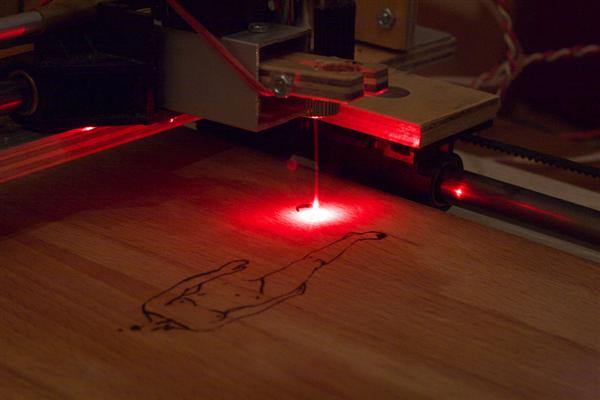How-To:  Homemade pen plotter with laser attachment