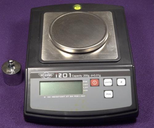 Bob Thompson on laboratory scales
