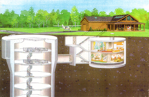 Atlas-F missile silo converted to ultimate survival mansion