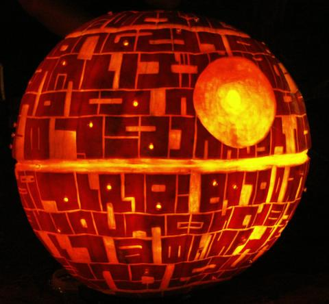 Geeky pumpkin carving collection