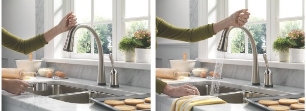 Touch-sensitive faucet
