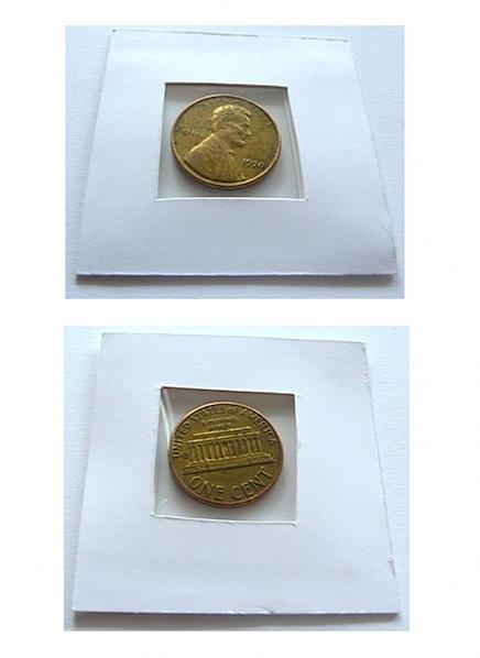 Artist's golden penny found in circulation