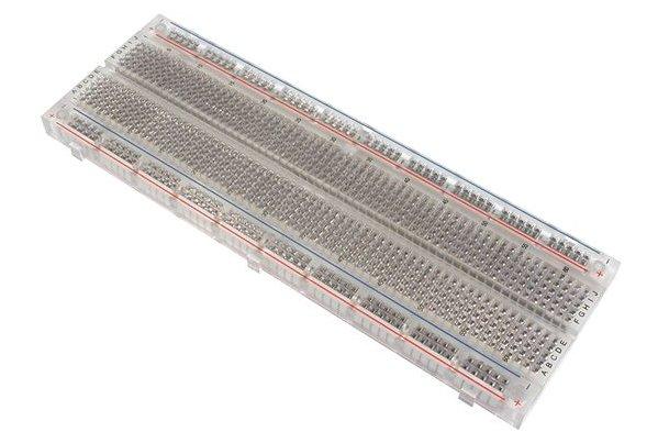 Transparent solderless breadboard