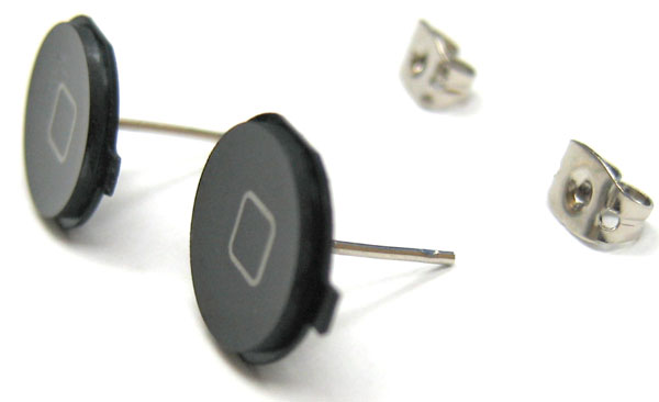 iPhone home button earrings