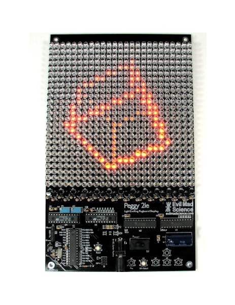 In the Maker Shed: Peggy 2 LED display kit