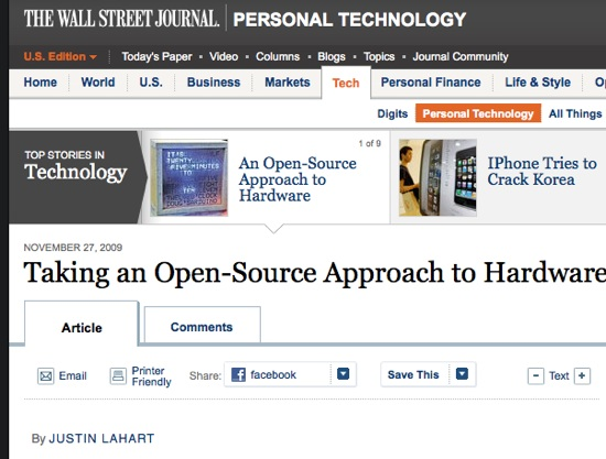 Taking an open source approach to hardware…