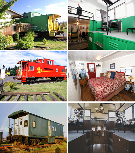 Large collection of repurposed train cars