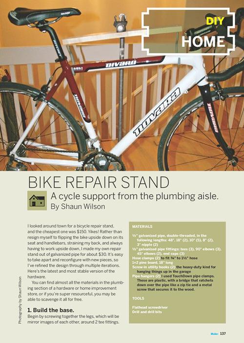 Weekend Project: Bike Repair Stand (PDF)