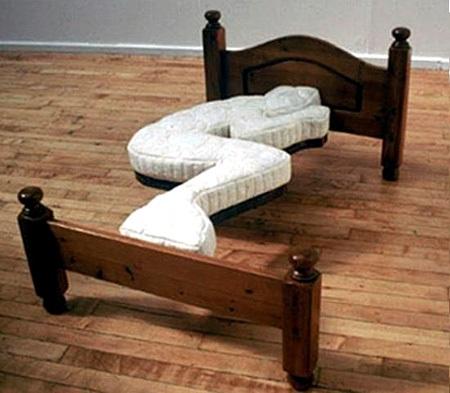 Human-shaped bed