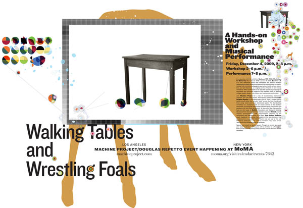 Doug Repetto's Walking Tables workshop at MoMA, this Friday!
